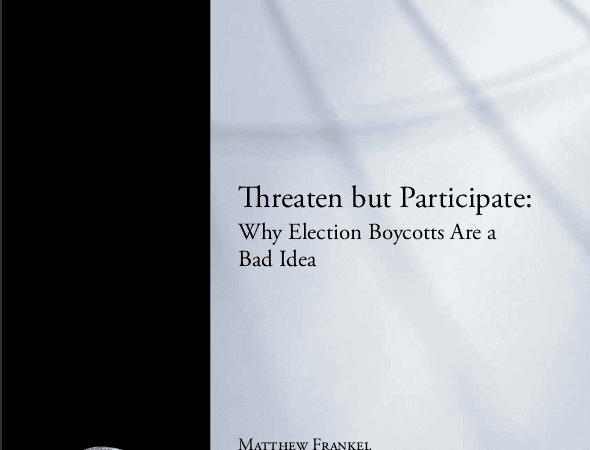Тезисы: Почему бойкот выборов – плохая идея