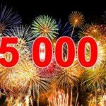 За ночь перевалили за 5000 подписчиков в Телеграм