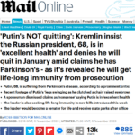 Кто источник о Паркинсоне Путина