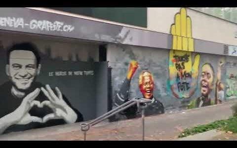 Мандела и Навальный. Войнушка граффити.
